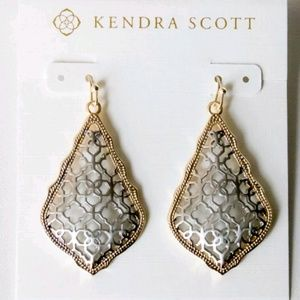 "Kendra Scott ""Addie"" Silver/Gold Filigree Earrings"